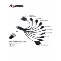 Melody Electronics 10-in-1 USB charging cable and one USB car charger