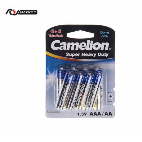 Camelion Super Heavy Duty AA And AAA Battery Pack Of 8